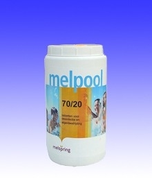Melpool chloortabletten (klein) 70/20  1kg / 5 kg / 10kg
