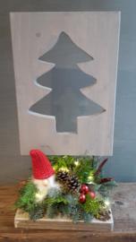 Kerststukje op statief( kerstboom) inclusief verlichting