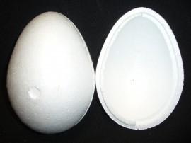 Piepschuim ei (2-delig) hoogte 21 cm