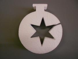 Kerstbal met 1 ster klein.