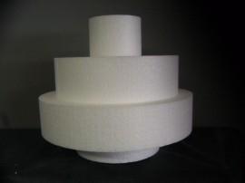 Open taart, hoogte 25 cm.