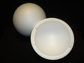 Piepschuim bal (2-delig) doorsnede 15 cm