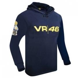Valentino Rossi - VR/46 Moto Blue Hooded Fleece Shirt
