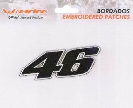 Valentino Rossi - Geborduurde badge - 46 Black