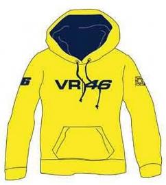 Valentino Rossi - Logo Yellow  Hooded Fleece Shirt