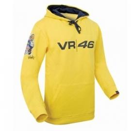 Valentino Rossi - VR/46 Moto Yellow Hooded Fleece Shirt