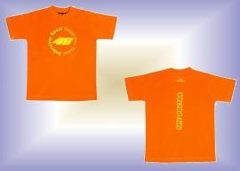 Valentino Rossi - Name 46 kids Orange Football T-Shirt