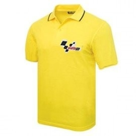 Motogp Logo Zip Yellow Polo Polo Shirt Valentino Rossi Fanshop