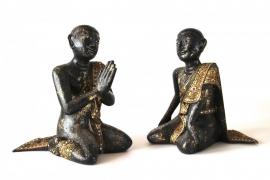Set van 2 monnikken (4-624 A & B)