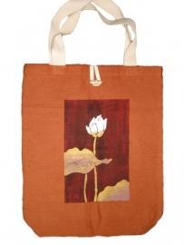 Fair-trade katoenen tas `Lotus`