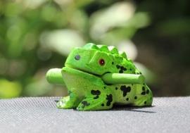 Houten kikker 7,5 cm (groen)