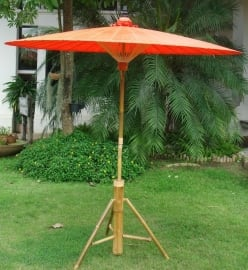 Handgemaakte oosterse parasol 2.00 m Oranje