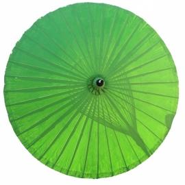 Handgemaakte oosterse parasol 2.00 Limegroen