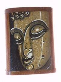 Boeddha doosje zand-bruin