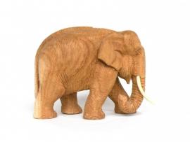 Teakhouten olifantje (107)