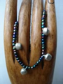 Armbandje/enkelbandje (multicolor-paars)