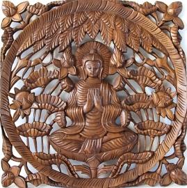 Houtsnijwerk - Boeddhapaneel (1-77)
