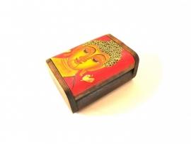 Boeddha doosje (12 X 8) rood