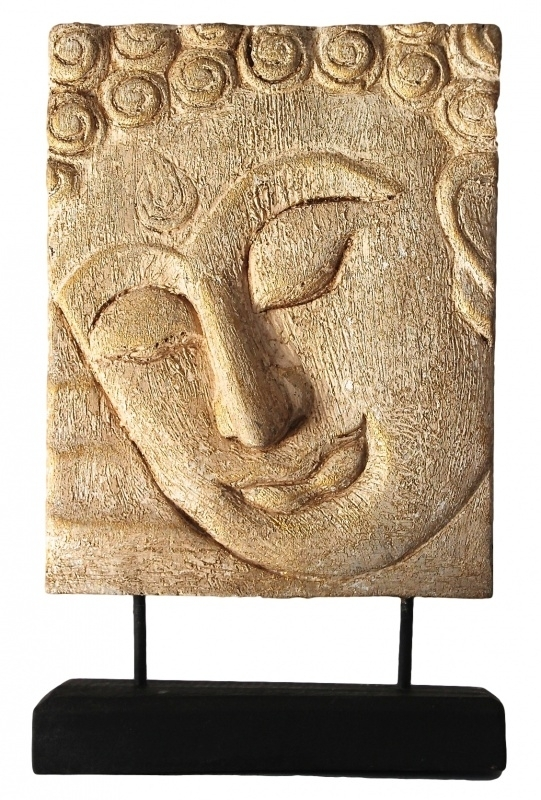 Boeddha paneel op stander (B-04 / 20 X 25 cm)