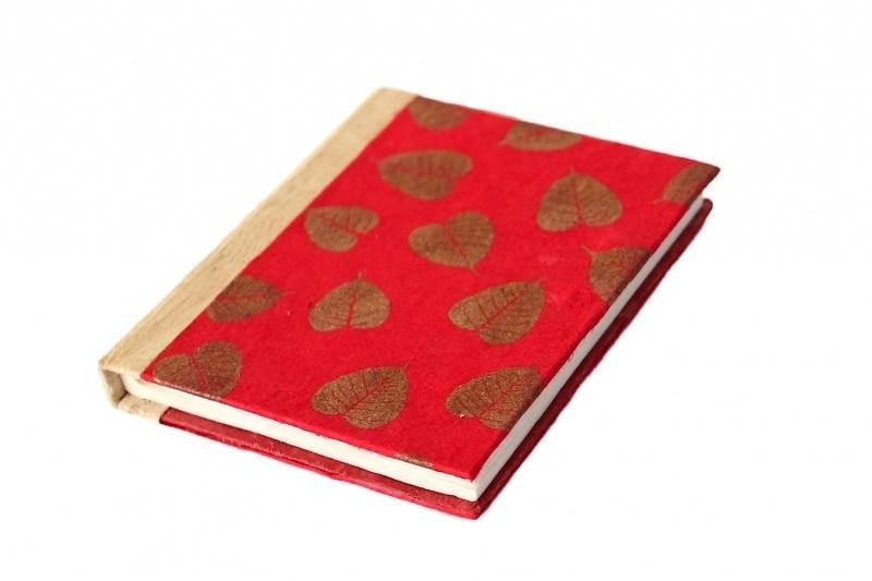 Notitieboekje saa papier (rood)