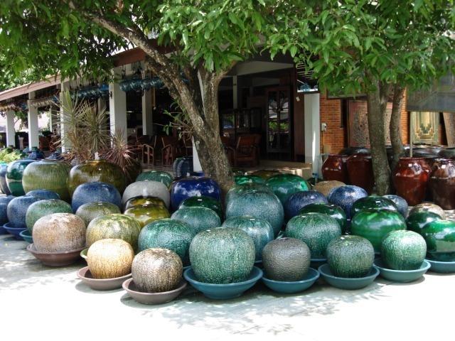 Keramiek pot-waterornament