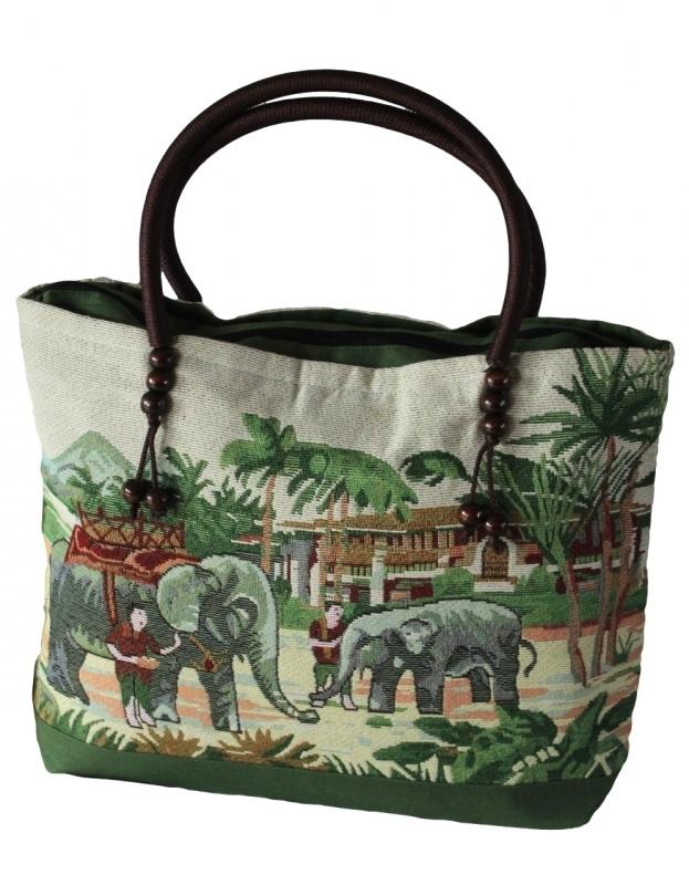 Handtas 'elephant & mahout' (01)
