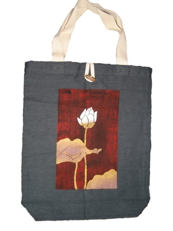 Katoenen Lotus Fair Trade Oosterse Tas Artikelen `lotus`Stof vmN8Oywn0