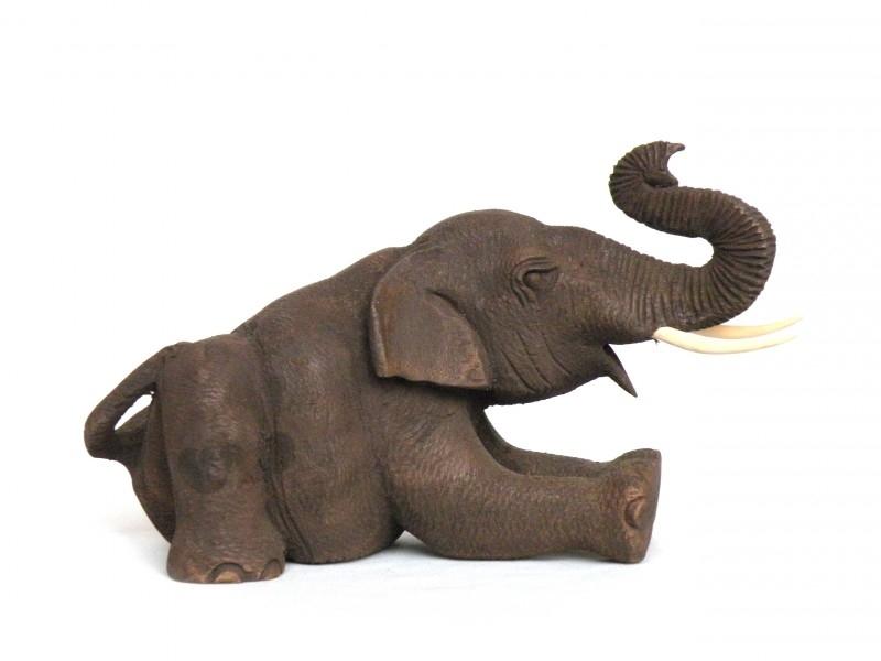 Teakhouten olifantje (106)