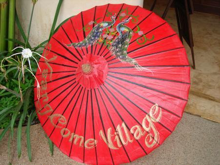 parasol met reclame