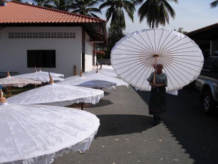 handgemaakte parasol katoen waterproof
