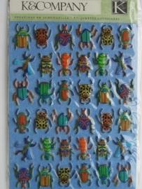 5151- K&Co 3D stickers torretjes (allemaal beestjes) 11.5x15cm