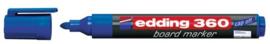 CE390360/0003- edding-360 boardmarker met punt van 1.5-3mm blauw