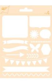 6002/0853 - Joy! crafts embossing achtergrondstencil poly-besa - vlinder/ vlaggetjes