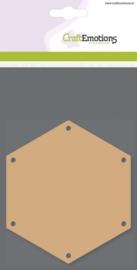 CE812301/0105- 3 stuks MDF basisvormen zeshoek van 10cm