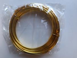 5 meter aluminiumdraad (Wire&Wire draad) van 2.5 mm. dik goud