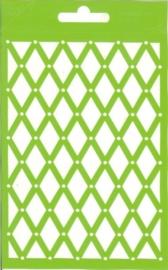 JOY6002/0607- Joy! crafts embossing achtergrondstencil template A6 formaat ruiten