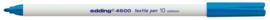 CE394600/0010- edding-4600 textielpen 1mm lichtblauw