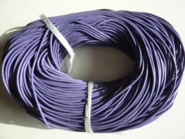 100 meter echt leren veter lila van 2mm dik - AA kwaliteit - SUPERLAGE PRIJS!