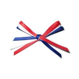 589911/0092- 10 stuks strikken zelfklevend Holland rood/wit/blauw