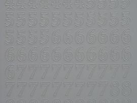 315- cijfers wit 10x20cm