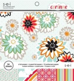 005966- 24 vel paper pad S.E.I `Corinne` 15.2x15.2cm OPRUIMING