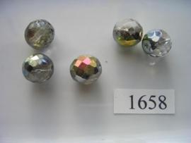 5 stuks ovaal 13x14mm 1658