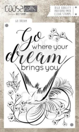 CE130630/1029- Coosa Crafts clearstamp A6 - dream