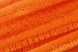 8476 101- 10 stuks chenille draad van 50cm lang en 8mm breed oranje