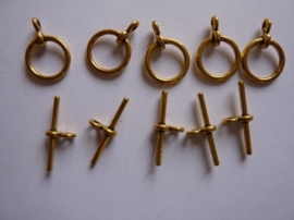 CH.2035.Y- 5 stuks kapittelsluitingen van 12mm goudkleur