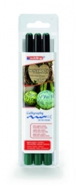 CE391255/9325- 3 stuks Edding kalligrafie pennen 2/3-5/5mm groen