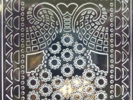st1066- stickervel met ornamenten zwart 10x20cm