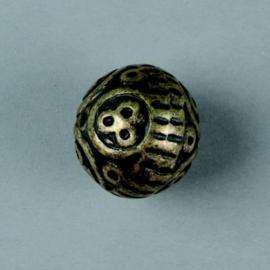 metalen kraal antiek goud 18mm 117465/2647