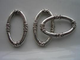 boeiring ovaal zwaar metalen kwaliteit 34x20mm 117465/0742