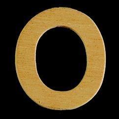 8735 622- 4cm houten letter O